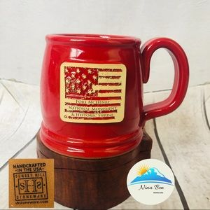 Fort McHenry National Monument Sunset Hill Red Mug